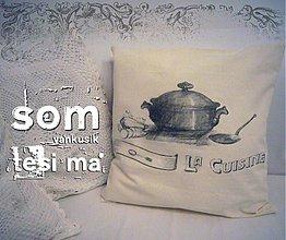 Úžitkový textil - vankúšik...útek z kuchyne - 916418