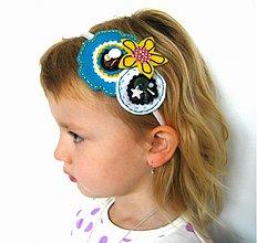 Ozdoby do vlasov - Bielo-modro-žltá - 919396