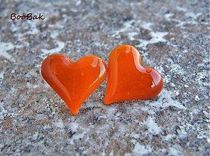 Náušnice - Jesenné v oranžovohnedom - 920081