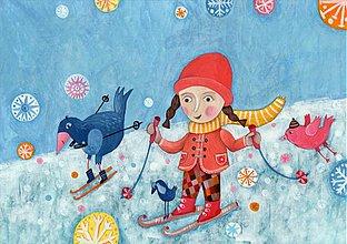 Grafika - Grétka lyžuje - malý obrázok - 920489