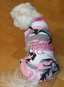 Pre zvieratká - Maskáčové šaty pre psíka ružové - 92294