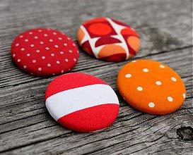 Odznaky/Brošne - Retro oranžový brošňový setík - 924708