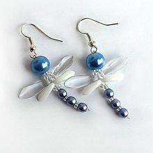 Náušnice - Modré fešandy - 924989