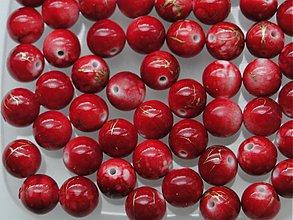 Korálky - Plast 10mm-10ks (bord.červená) - 938128