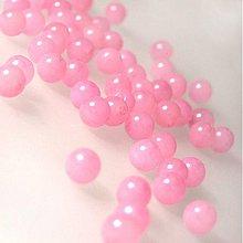 Minerály - Jadeit korálka / 6mm (Ružový sneh) - 939148