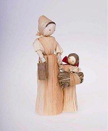 Dekorácie - Maminka s dcérkou s otepom sena - 942578