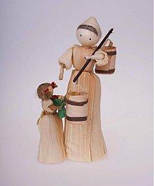 Dekorácie - Maminka s dcérkou s vedrami - 943458