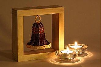 Dekorácie - Zvonček z pedigu v rámiku - 946226