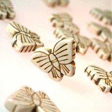 Minerály - Motýlik / Slonovinový - 953379
