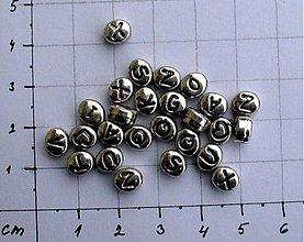 Korálky - Korálky s písmenkom, 10 ks - 953622
