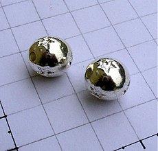 Korálky - Kovová s hviezdami, 12 mm/ 1 ks - 956383