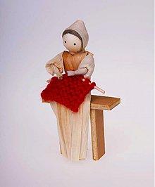 Dekorácie - Žena s pletením - 963706