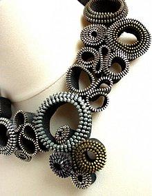 Náhrdelníky - Náhrdelník zipsový čierny - 969971