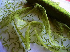 Textil - organza so secesným ornamentom - 97058