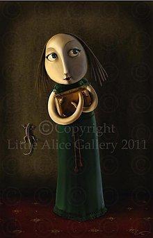 Grafika - Ilustrácia Portrét s jaštericou - 970844