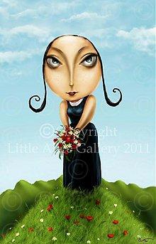 Grafika - Ilustrácia Nedeľné kvety - 971006