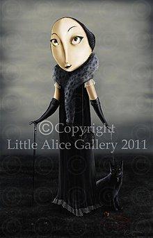 Grafika - Ilustrácia Miss Ruppert and cat Flint - 971042