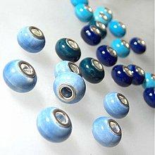 "Korálky - ""Pandora style"" porcelánová (svetlá modrá) - 972459"