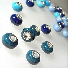 """Korálky - """"Pandora style"""" porcelánová (modrozelená) - 972464"""