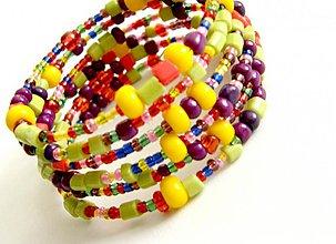 Náramky - yellow rainbow - 974273