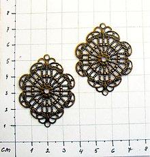Komponenty - Filigrán 4,5 x3,5 cm/ 1 ks - 983570