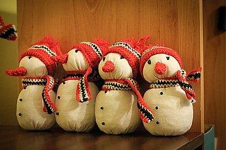 Dekorácie - Snehuliačik červený - 983786