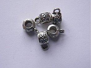 Korálky - Kovová korálka s očkom 7 x 5 mm- 5 ks (Kov007) - 985355