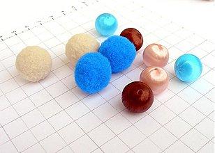 Textil - Textilno-vlnené guľky/10 ks - 986401
