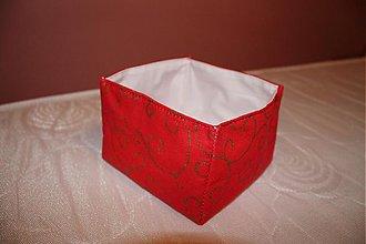 Dekorácie - košík červený... - 987054