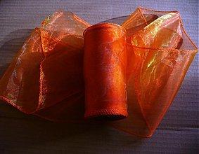 Galantéria - organza stuha oranžová - 988100