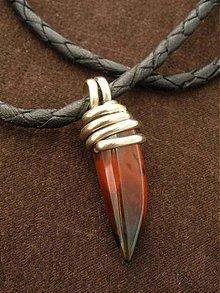 Šperky - zub z achátu  - 990012