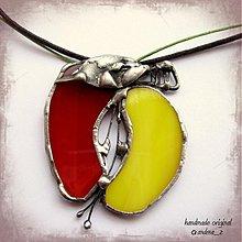 Náhrdelníky - žlto červené jabĺčko - 990064