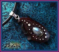 Náhrdelníky - ...kořen  EXOTIK... LABRADORIT.... - 991171