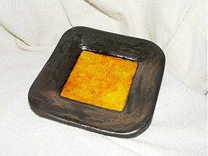Svietidlá a sviečky - svietnik žlto oranžovo zlatý - 992579