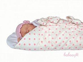 Textil - Perinka POLKA bielo-ružová - 99691